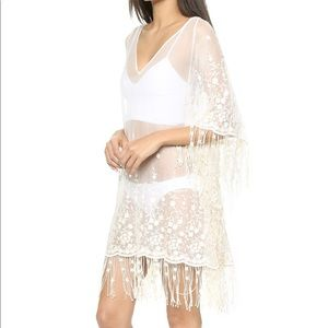 NWT Alice + Olivia Embroidered Sheer Coverup
